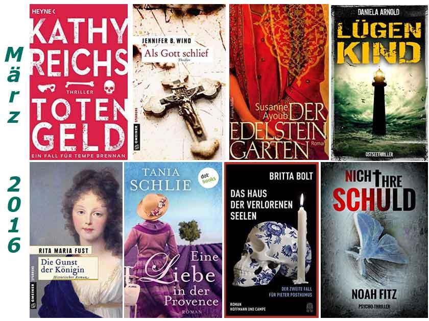 Cover im Maerz 2016 gelesener Buecher