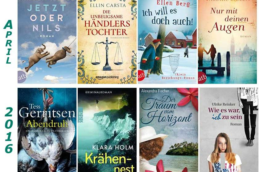 Cover gelesener Bücher im April