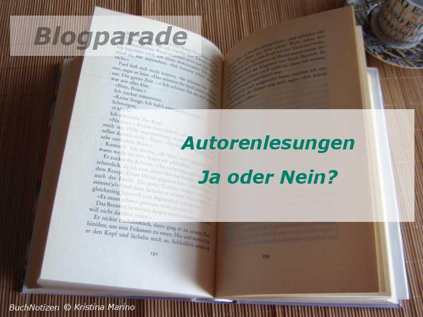 Blogparade Autorenlesesungen