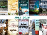 Rückblick Juli 2016- Krimireihen und eine Trilogie