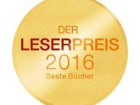 Leserpreis 2016 auf LovelyBooks.de