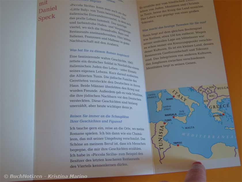 Piccola Sicilia Rücksete innen