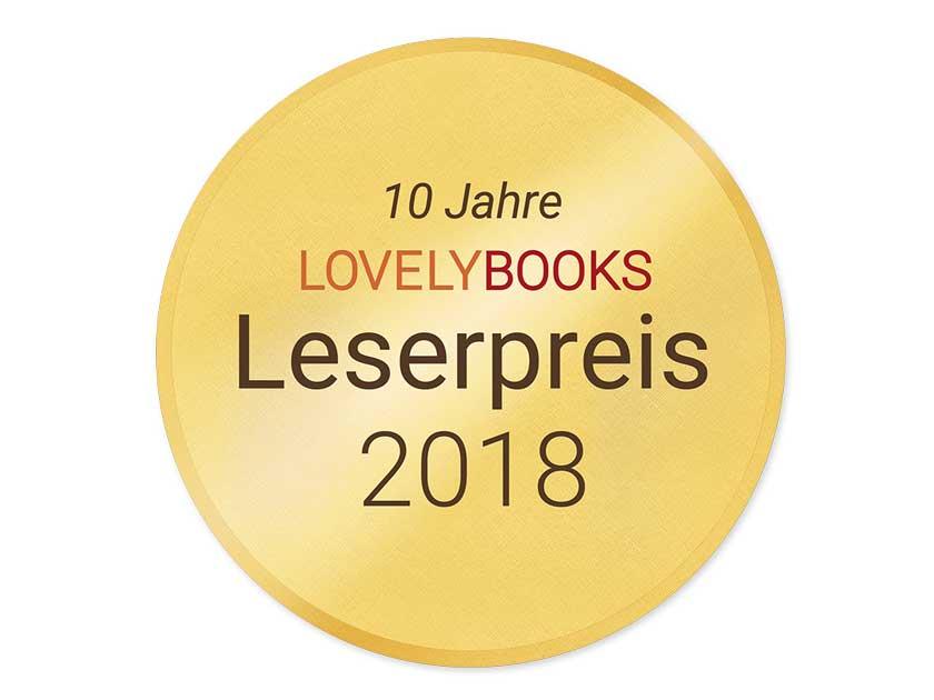 Logo LovelyBooks Leserpreis 2018