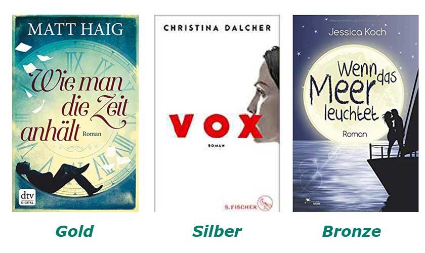 Gewinner Romane LovelyBooks Leserpreis 2018