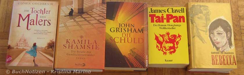 Meine Bücher mit gelbem Cover