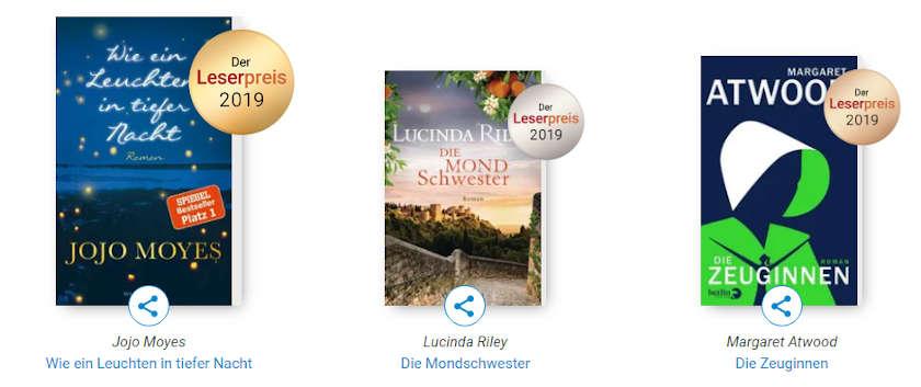 Gewinner Roman Leserpreis 2019