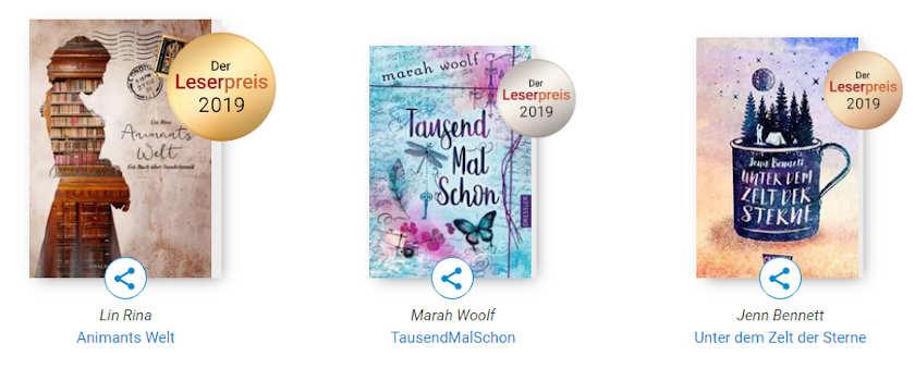 Gewinner bestes Cover Leserpreis 2019