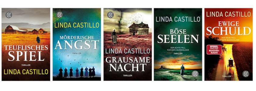 Cover Thrillerreihe von Linda Castillo
