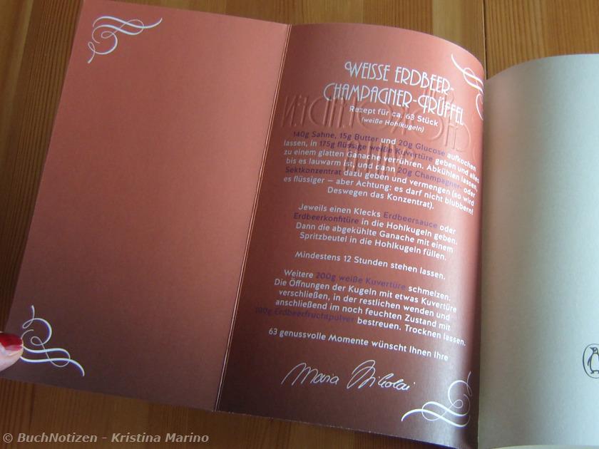 Schokoladenvilla Umschlag innen mit Rezept